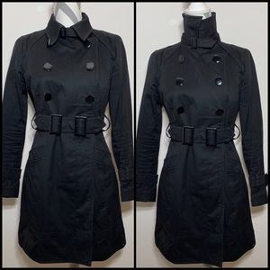 Soia&Kyo heavy cotton double belt trench